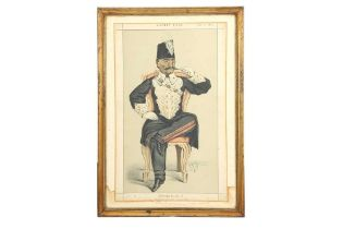 A CHROMOLITHOGRAPH PRINT OF NASIR AL-DIN SHAH ('SOVEREIGNS, NO. 11') London, England, drawn by Sir L
