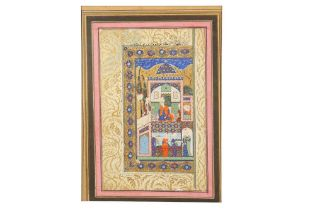 AN ILLUSTRATED MANUSCRIPT FOLIO: THE COURT OF SULTAN SELIM Safavid Iran, 17th century