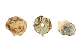 A GROUP OF ISLAMIC POTTERY SHARDS Kashan, Iran, 12th - first half 13th century andKutahya, Ottoman