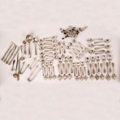 A large quantity of silver flatware, various dates and makers,