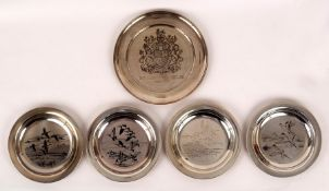A Silver Jubilee engraved silver plate,