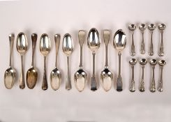 Six 18th Century silver tablespoons, Joseph Smith, London possibly 1732,