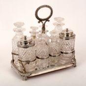 A George III silver cruet stand, John Edward Terrey, London 1818,