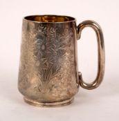 A Victorian provincial silver Christening mug, Josiah Williams & Co, Exeter 1882,