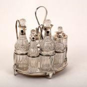 A George III silver cruet stand, possibly Robert, David & Samuel Hennell, London circa 1802,