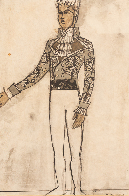 Nicholas Georgiadis (1923-2001)/Design for Rudolf Nureyev's costume in 'Nutcracker',
