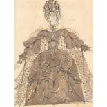Nicholas Georgiadis (1923-2001)/Design for the Queen Mother's Costume in 'The Sleeping Beauty' for