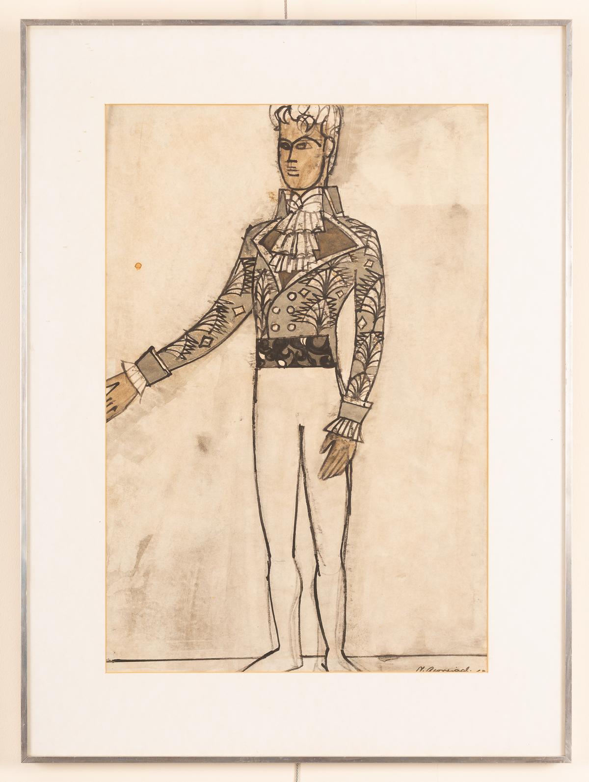 Nicholas Georgiadis (1923-2001)/Design for Rudolf Nureyev's costume in 'Nutcracker', - Image 2 of 2