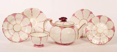 An Aynsley part tea service, Pink Butterfly pattern no.
