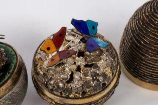 Stuart Devlin (1931-2018), a silver, silver gilt and enamel surprise egg, London 1975,