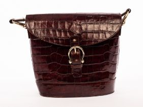 Mulberry, a large dark brown Congo leather handbag with shoulder strap,