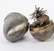 Stuart Devlin (1931-2018), a silver, silver gilt and enamel surprise egg,