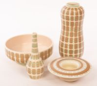 Poole Pottery, a peanut vase, 26.