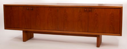 Martin Hall for Gordon Russell, a Marlow teak sideboard, two cupboards with double doors,