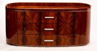 A Giorgio Collection 'Rio Samba' mahogany dresser of three drawers,
