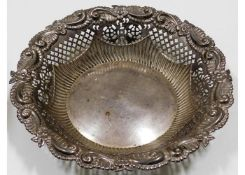 An 1896 Victorian London pressed silver bowl with