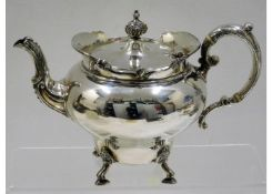 A 1903 Edwardian London silver footed teapot by Go