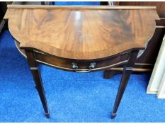 A Regency style Bowlings mahogany hall table, 30in