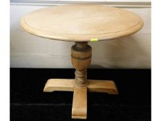An Ercol oak occasional table, later stripped, 23.