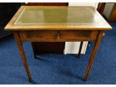 A 1920's oak side table with drawer, 30in wide x 1