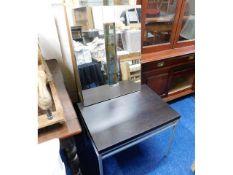 A steel framed low level table 30in wide twinned w