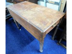 A 19thC. mahogany Pembroke table with one drawer,