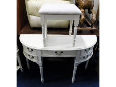 A Laura Ashley dressing table with stool