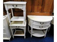 A Laura Ashley D shaped bedroom dresser twinned wi
