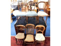 Six various mostly 19thC. chairs, some a/f