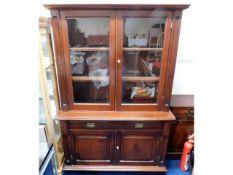 A large Edwardian/early 20thC. mahogany book case,