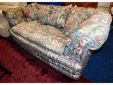 A late Victorian button back drop end sofa with Wi