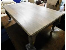 A modern wash effect coffee table, 44in long x 28.