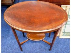 An Edwardian mahogany occasional table, 26.75in wi