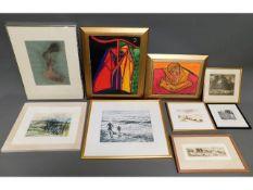A quantity of various framed original paintings, p