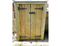 A small gardeners tool shed, 46.5 high x 32.5in wi