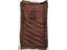 An antique Islamic prayer carpet, 63in long x 35in
