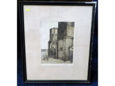 An early 20thC. framed lithograph of St. German's