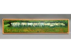 A large panoramic oil on panel by Cornish painter,