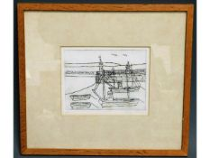 A 1971 Bryan Pearce limited edition lithograph, 9/