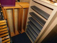 Six mixed media storage units