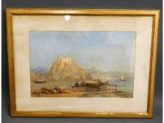 A large framed Mediterranean print