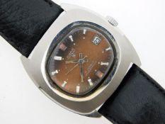 A gents Osco 'S' 17 jewelled shockproof wrist watc
