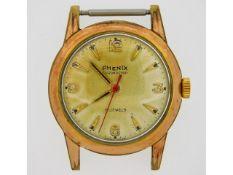 A gents Phenix Chronostop 17 jewel wrist watch, la