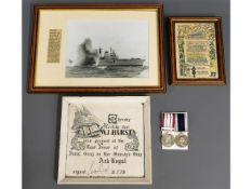 Naval Petty Officer W. J. Hurst J942216 replacemen