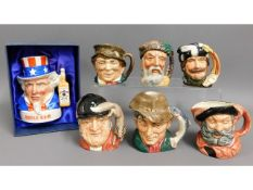 A Royal Doulton Uncle Sam whisky jug & other Doult
