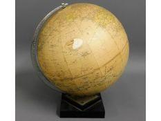 A Philips terrestrial globe, 12.25in tall