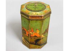 A Lyon's tea horse racing Grand National tin