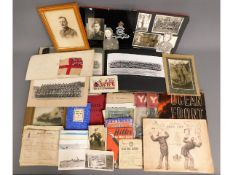 A quantity of military related photos, pamphlets &
