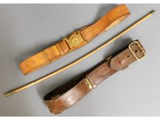 """A Gibraltar military belt, """"T. W. Suffolk"""" swagger"""