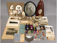 A WW1 & WW2 family medal set including RAF won by